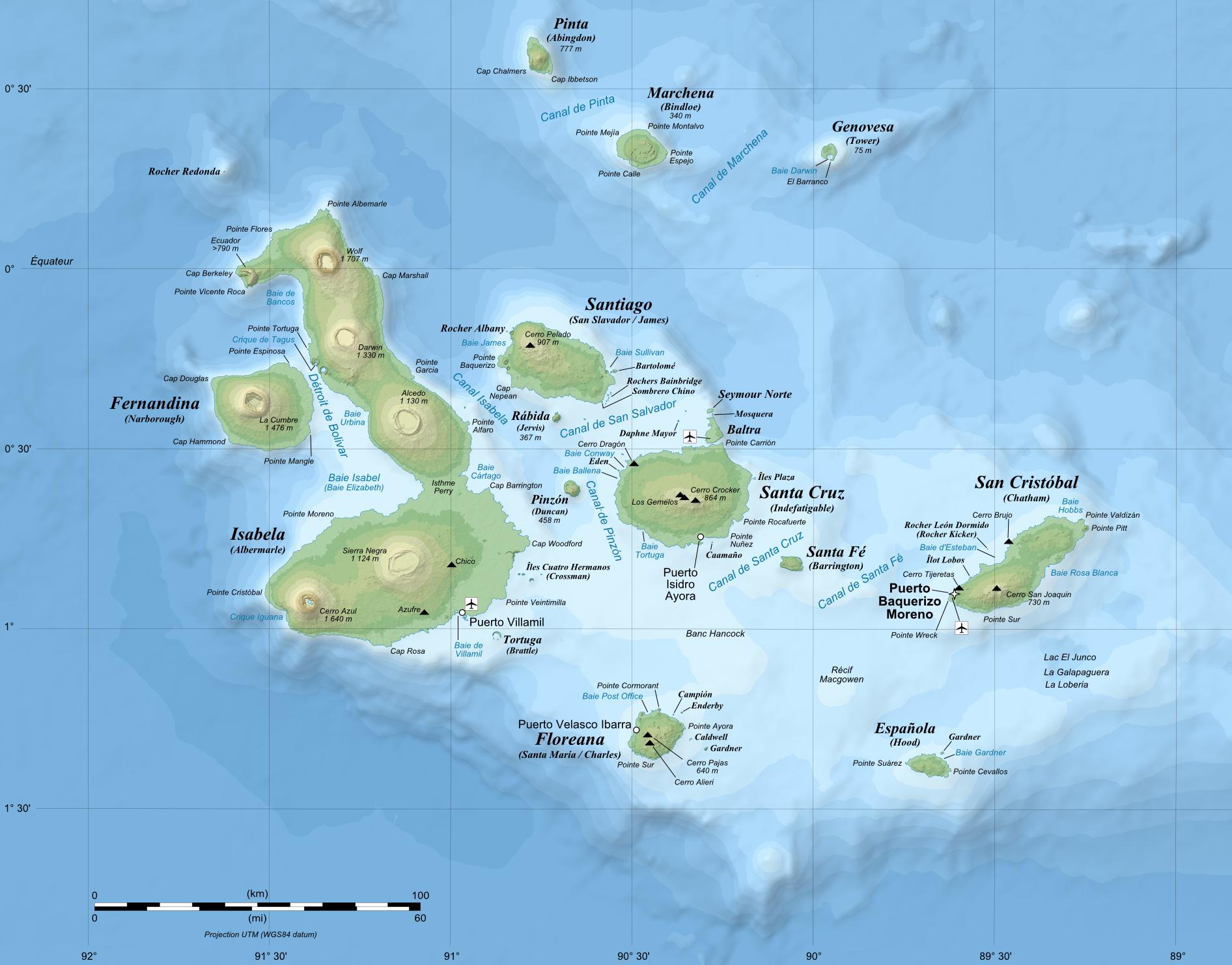 Galapagos Map Beltram Travel