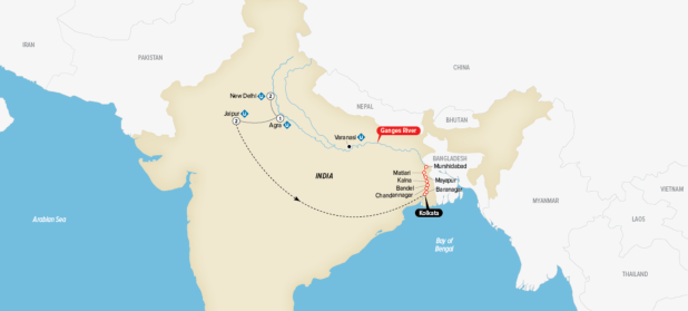 INDIA'S GOLDEN TRIANGLE & THE SACRED GANGES